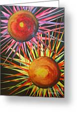 Stars With Colors Greeting Card by Chrisann Ellis