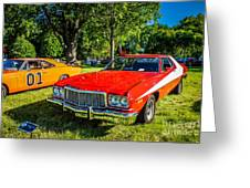 Starsky And Hutch Ford Gran Torino Greeting Card by Grace Grogan