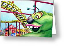 State Fair Caterpillar Greeting Card by Sam Sidders