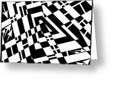 Static Formations Maze Greeting Card by Yonatan Frimer Maze Artist