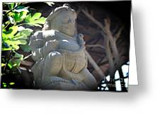 Statue In The Sun Greeting Card by Jackie Mestrom