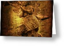 Statue Of Angel Greeting Card by Amanda And Christopher Elwell