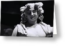 Statue of Dionysus Greeting Card by Catherine Fenner