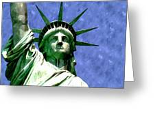 Statue Of Liberty 2 Greeting Card by Lanjee Chee