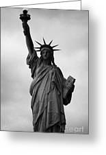Statue Of Liberty National Monument Liberty Island New York City Nyc Greeting Card by Joe Fox