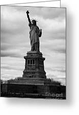 Statue Of Liberty National Monument Liberty Island New York City Usa Greeting Card by Joe Fox