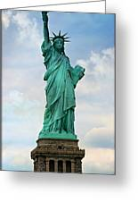 Statue Of Liberty Greeting Card by Stephen Stookey