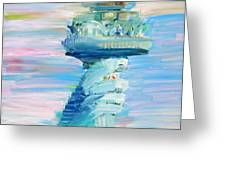 STATUE OF LIBERTY - THE TORCH Greeting Card by Fabrizio Cassetta