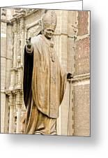Statue Of Pope John Paul II Greeting Card by Jess Kraft