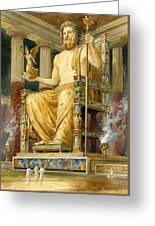 Statue Of Zeus At Oympia Greeting Card by English School