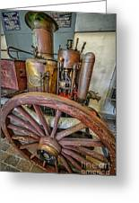 Steam Fire Engine Greeting Card by Adrian Evans