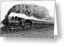 Steam Locomotive No. 999 - C. 1893 Greeting Card by Daniel Hagerman