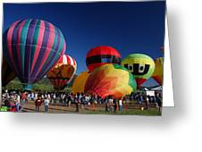 Steamboat Balloon Rising Greeting Card by Michael J Bauer
