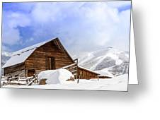Steamboat Springs Barn And Ski Area Greeting Card by Teri Virbickis