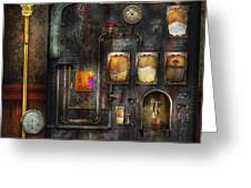 Steampunk - All that for a cup of coffee Greeting Card by Mike Savad