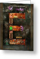 Steampunk - Alphabet - E Is For Electricity Greeting Card by Mike Savad