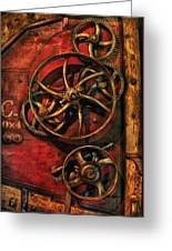 Steampunk - Clockwork Greeting Card by Mike Savad