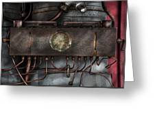 Steampunk - Connections   Greeting Card by Mike Savad