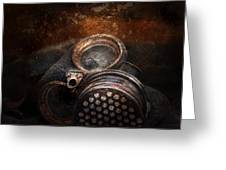 Steampunk - Doomsday  Greeting Card by Mike Savad