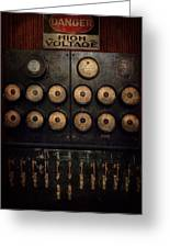 Steampunk - Electrical - Center Of Power Greeting Card by Mike Savad