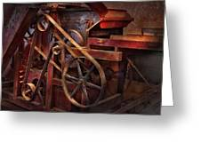 Steampunk - Gear - Belts And Wheels  Greeting Card by Mike Savad