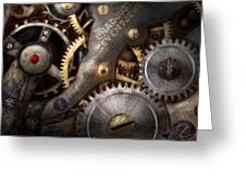 Steampunk - Gears - Horology Greeting Card by Mike Savad