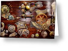 Steampunk - Gears - Reverse Engineering Greeting Card by Mike Savad
