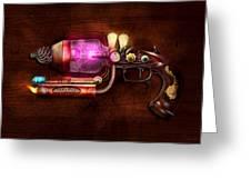 Steampunk - Gun -the Neuralizer Greeting Card by Mike Savad