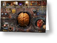 Steampunk - Information overload Greeting Card by Mike Savad