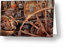 Steampunk - Machine - The Industrial Age Greeting Card by Mike Savad