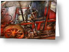 Steampunk - My Transportation Device Greeting Card by Mike Savad