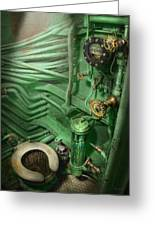 Steampunk - Naval - Plumbing - The Head Greeting Card by Mike Savad