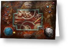 Steampunk - Pandora's Box Greeting Card by Mike Savad