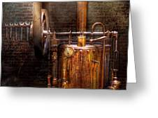 Steampunk - Powering the modern home Greeting Card by Mike Savad