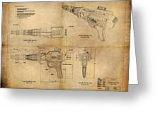 Steampunk Raygun Greeting Card by James Christopher Hill