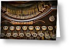 Steampunk - Typewriter - Underwood Greeting Card by Paul Ward