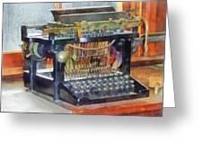 Steampunk - Vintage Typewriter Greeting Card by Susan Savad
