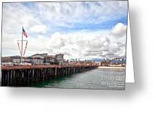 Stearns Wharf Santa Barbara California Greeting Card by Artist and Photographer Laura Wrede