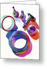 Steel Gears Greeting Card by Erich Schrempp
