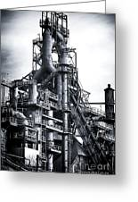 Steel Giant Greeting Card by John Rizzuto
