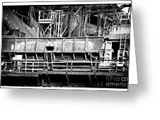 Steel Work Greeting Card by John Rizzuto