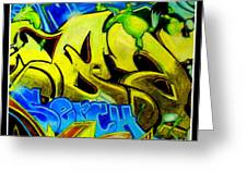 Steet Expression Greeting Card by Mylene Le Bouthillier