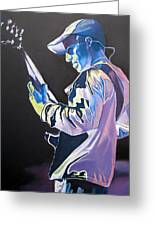 Stefan Lessard Colorful Full Band Series Greeting Card by Joshua Morton