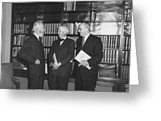 Steichen And Sandburg Greeting Card by Underwood Archives