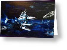 Stellar Cruiser Greeting Card by Murphy Elliott