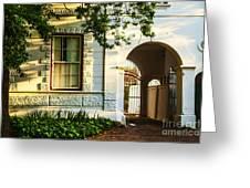 Stellenbosch Gate Greeting Card by Rick Bragan