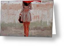 Stepping Out Greeting Card by Laura Lee Zanghetti