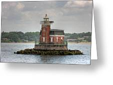 Stepping Stones Lighthouse I Greeting Card by Clarence Holmes