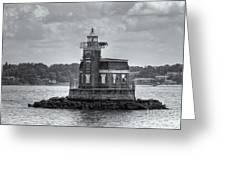 Stepping Stones Lighthouse II Greeting Card by Clarence Holmes