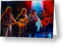 Steve Miller Band Fractal Greeting Card by Gary Gingrich Galleries